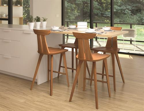 Estelle Stools in solid Cherry or Walnut