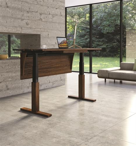 Invigo Sit-Stand Desks in solid Cherry, Walnut or Ash