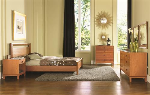 Mansfield Bedroom in solid Cherry