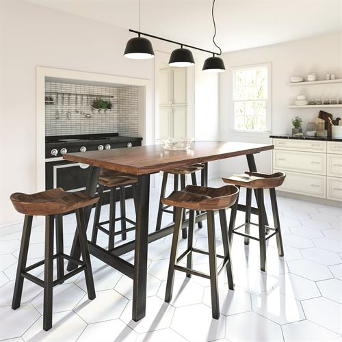 Modern Farmhouse Dining in solid Walnut and Seared Ash