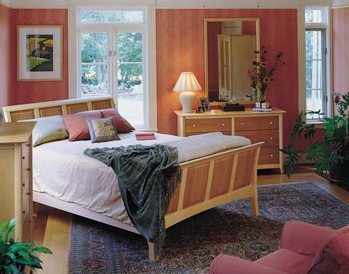 Sarah Bedroom in solid Maple and Cherry