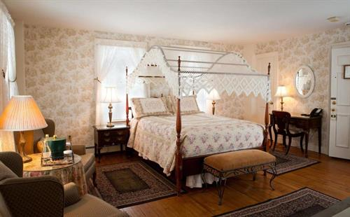 Our guest rooms pair 19th century charm with modern conveniences
