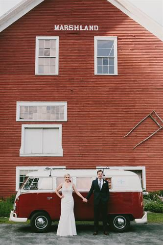 Our historic red barn makes for a great photo opp (Photo by Emily Delmater)
