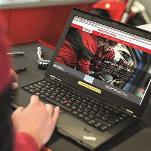 Honda (UK) - apprentice website