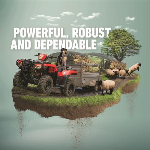 Honda ATVs - product advertising