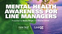 Mental Health Awareness Training for Line Managers ONLINE