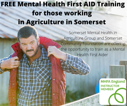 We provide Free Mental Health First Aid for those working in Agriculture in Somerset