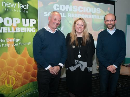 Becky Wright with Indycube Founder Mark Hooper and Nick Parker FRSA