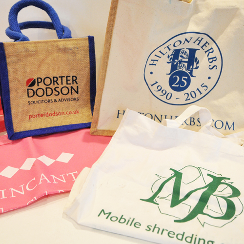A selection of branded bags