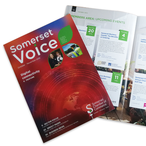 Design of the The Somerset Chamber Magazine