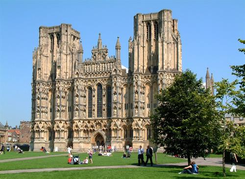 The iconic West Front of Wells Cathedral