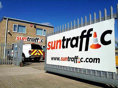 Sun Traffic - Sun Towers in Sunny Somerton Somerset.