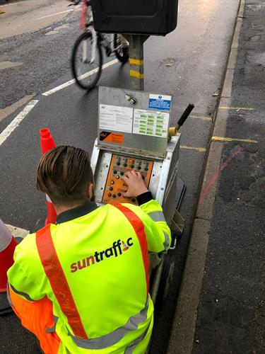 Manual control - another service  available to our clients ensuring the safe delivering of traffic management.