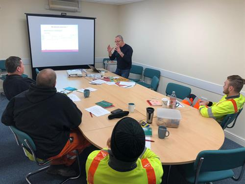 Another training course for our Operatives at our NHSS 12D Training Centre in Somerton, Somerset