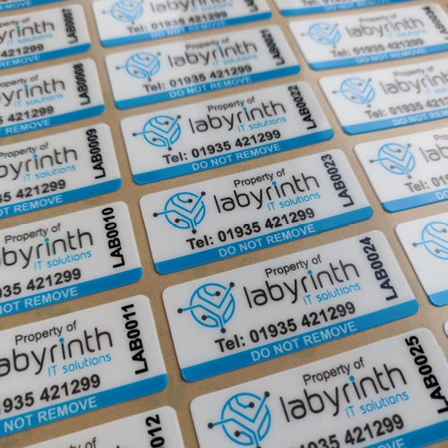 Labrrinth IT Solutions Asset Label