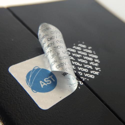 AST Tamper Evident 'VOID' Asset Labels