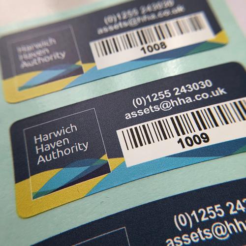 Harwich Haven Authority Ultra Destruct Asset Label