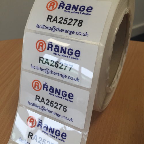 The Range Customised 3M Polyester Laminated Asset Tag
