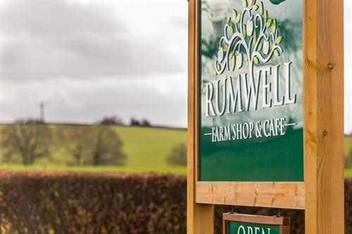 RUMWELL FARM SHOP & CAFE - BESPOKE SIGNAGE
