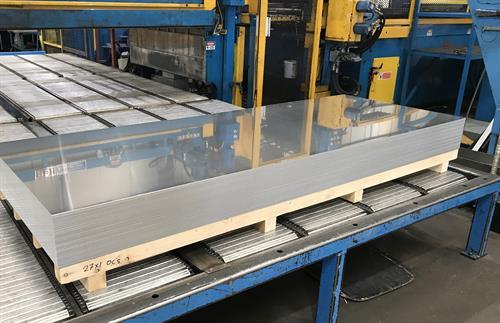 Aluminium coil cut to length