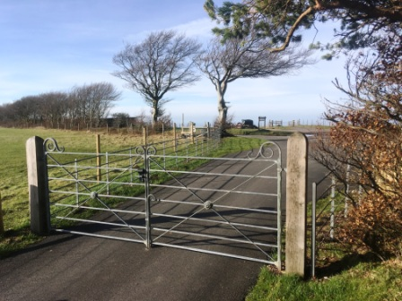 Estate style gate and estate fencing