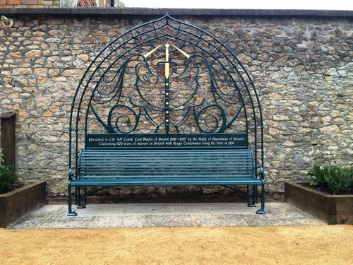 Bench made to celebrate the 800th Anniversary of the Lord mayor of Bristol.
