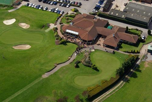 Ariel view of clubhouse