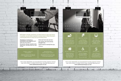 Flyer design for Able to Assist