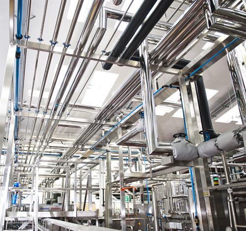 Hygienic pipework for brewery installation project
