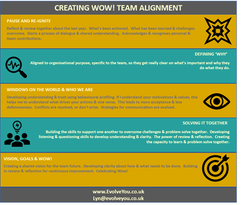 Creating Wow! Team development and engagement.