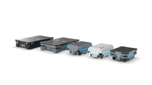 Mobile robots integrated with custom Top Modules conveyors or cobots