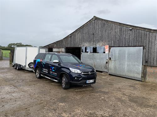 Farm shed clean in Wadebridge Cornwall.