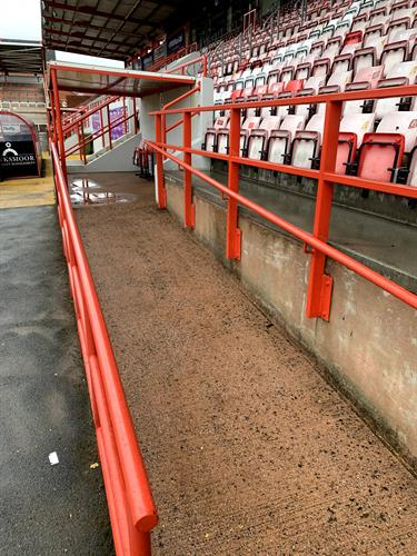 Exeter city Football club stand clean.