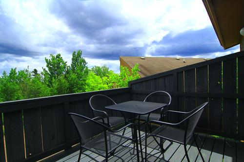 The deck of our One Bedroom Condo