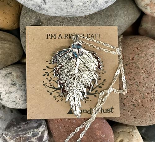 Handmade Silver dipped leaves