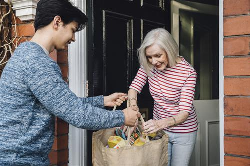 We provide essential services such as grocery shopping and delivery