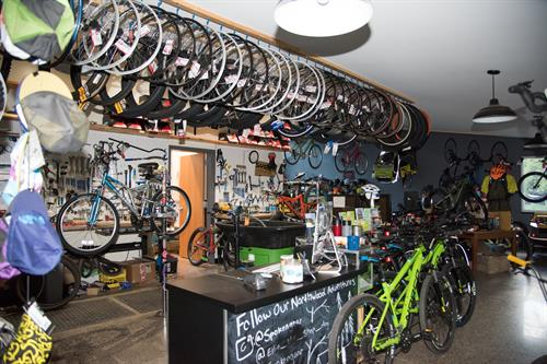 Spokengear Bikeshop offers Sales, Rentals and Repairs year round.