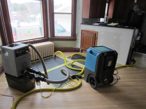 Saving a water damaged hardwood floor