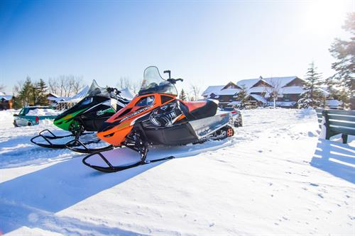 Snowmobile Parking