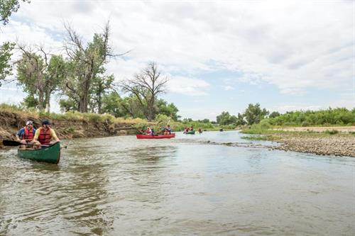 Canoeing the St. Vrain