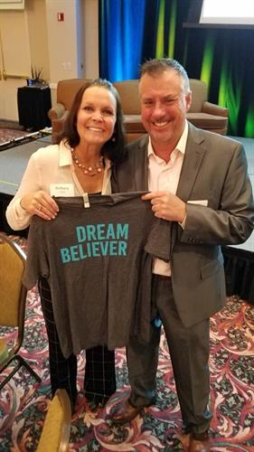 Frank & Brittany Oliver at the I Have a Dream Foundation Breakfast 2018