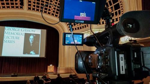 Lecture at Macky Auditorium