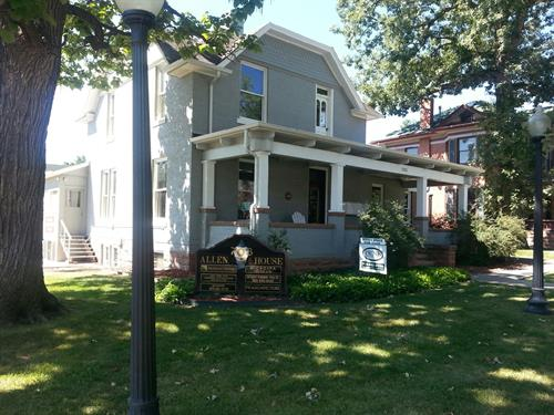 Microspa is located in the Historic Allen House on Third & Coffman