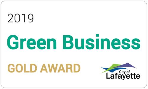 2018 City of Lafayette Green Business Gold Award