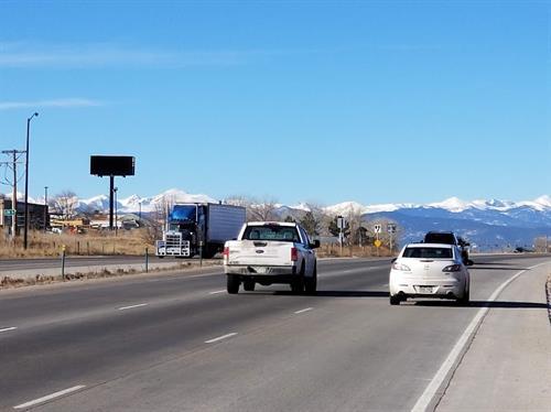 SR 119/CR 5 digital billboard for westbound traffic