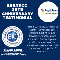 BRATECC 20th Anniversary Testimonial | Amanda Duhon, EIC - Energy Industries Council