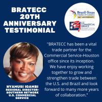 BRATECC 20th Anniversary Testimonial | Nyamusi Igambi, U.S. Commercial Service
