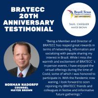 BRATECC 20th Anniversary Testimonial | Norman Nadorff, Mayer Brown