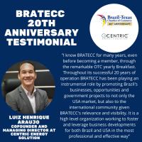 BRATECC 20th Anniversary Testimonial | Luiz Henrique Araujo - Centric Energy Solution