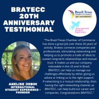 BRATECC 20th Anniversary Testimonial | Anelise Jobim - International Student Experience